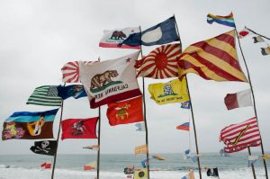 Flags fly in 2008