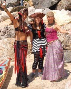 Gypsy dancers Vivianna, Aiko, and Nani